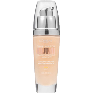 L'Oréal Paris True Match Lumi Healthy Luminous Makeup, W1-2 Porcelain