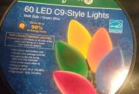 60 Led C9 Multi Colored Energy Star Lights Large Bulbs
